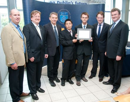 DIT Inventor Competition Award 2012 for Adam Narbudowicz, Dr. Xiulong Bao and Prof. Max Ammann