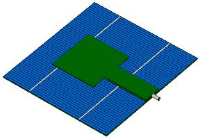 Solar Cell Patch Antenna
