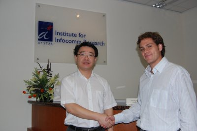 Zhi Ning Chen and Sergio Curto at I2R